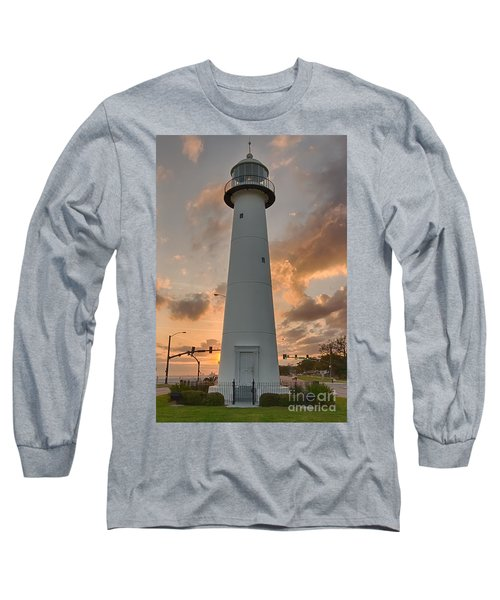 Biloxi Lighthouse Long Sleeve T-Shirt by Brian Wright