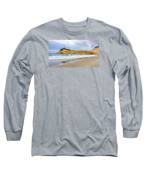 Long Sleeve T-Shirt featuring the photograph Cape Kiwanda by Jerry Cahill