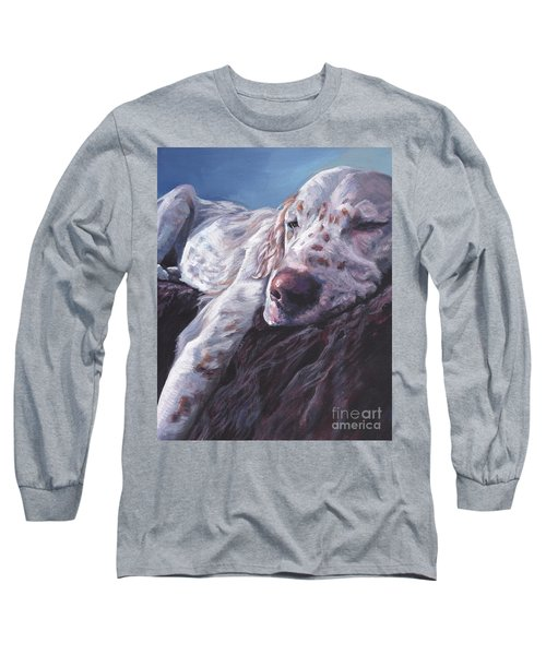 Long Sleeve T-Shirt featuring the painting English Setter by Lee Ann Shepard