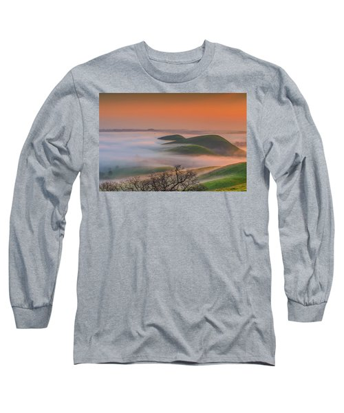 Fog At Sunrise Long Sleeve T-Shirt