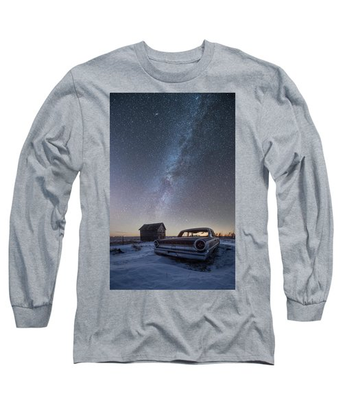 Long Sleeve T-Shirt featuring the photograph 3 Galaxies  by Aaron J Groen