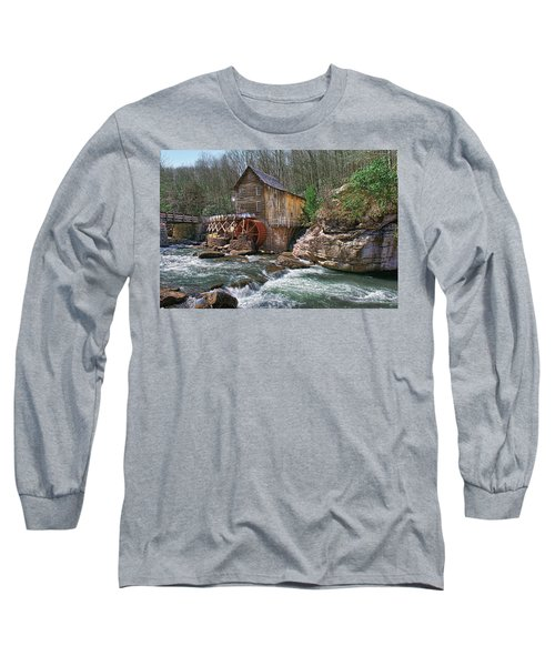 Glade Creek Grist Mill Long Sleeve T-Shirt by Mary Almond
