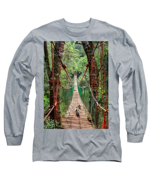 Long Sleeve T-Shirt featuring the photograph Hanging Bridge by Alexey Stiop