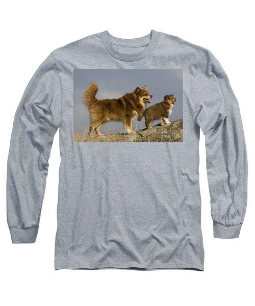 Lapinkoira Dog And His Pup Long Sleeve T-Shirt