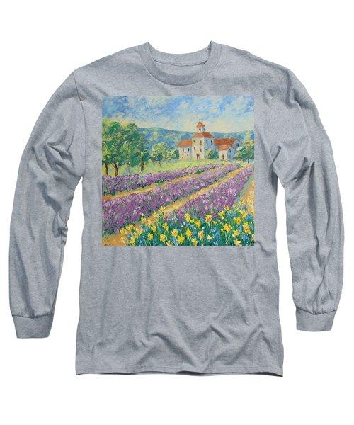 Lavender Field Provence Long Sleeve T-Shirt