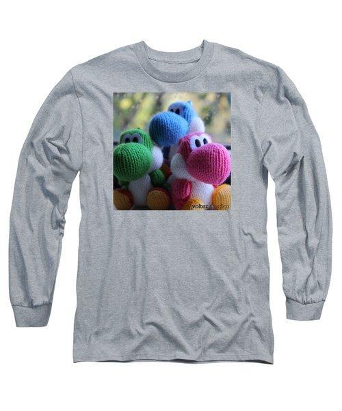 3 Little Yoshis Long Sleeve T-Shirt