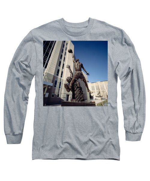 Low Angle View Of A Statue In Front Long Sleeve T-Shirt by Panoramic Images