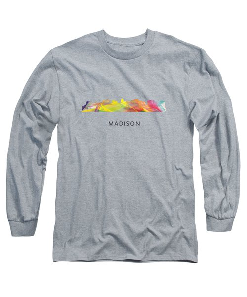 Madison Wisconsin Skyline Long Sleeve T-Shirt
