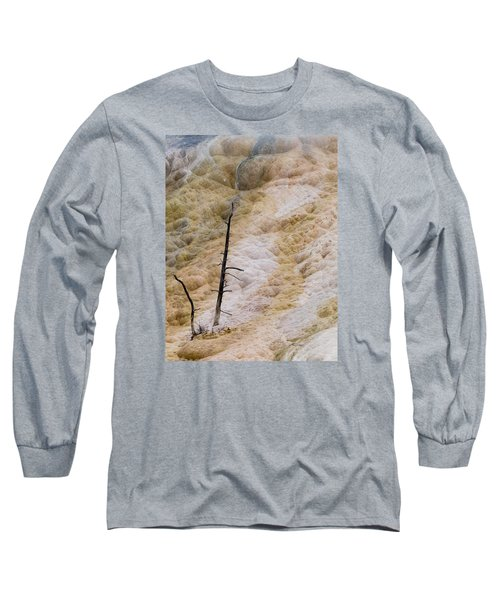 Mammoth Hot Spring Terraces Long Sleeve T-Shirt