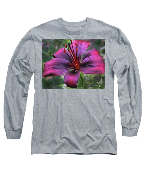 Nice Lily Long Sleeve T-Shirt by Elvira Ladocki