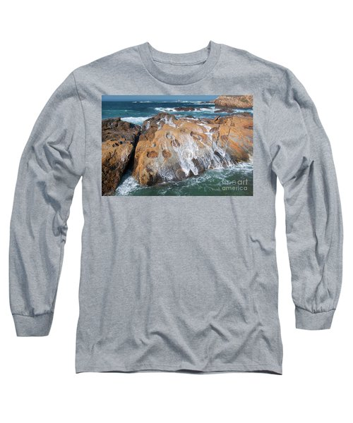 Point Lobos Concretions Long Sleeve T-Shirt by Glenn Franco Simmons