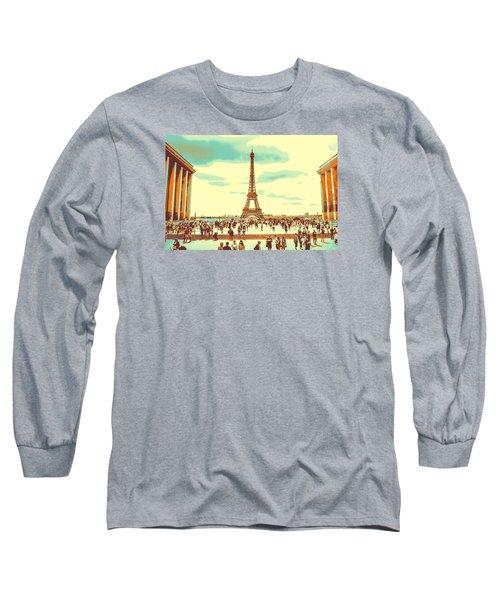 The Eiffel Tower Long Sleeve T-Shirt