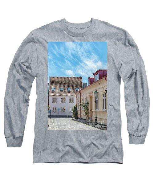Long Sleeve T-Shirt featuring the photograph Ystad Street Scene by Antony McAulay