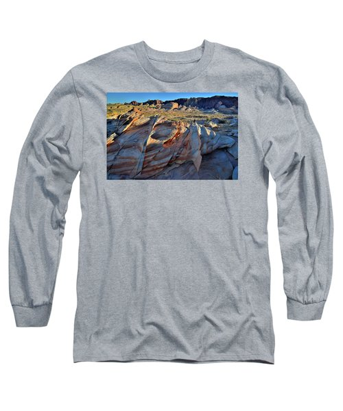 Long Sleeve T-Shirt featuring the photograph Colorful Sandstone In Valley Of Fire by Ray Mathis