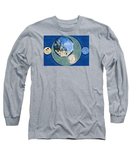 Long Sleeve T-Shirt featuring the photograph Abstract Painting - Bermuda Grey by Vitaliy Gladkiy