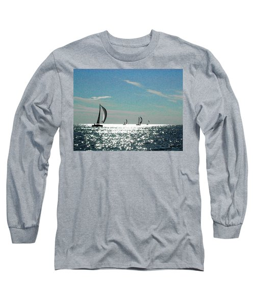 4 Boats On The Horizon Long Sleeve T-Shirt