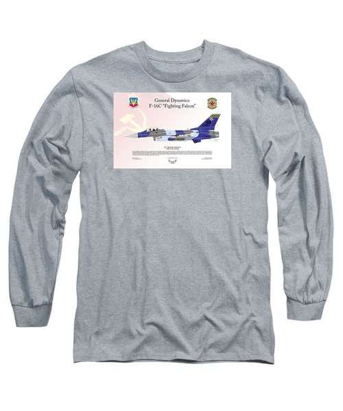 Long Sleeve T-Shirt featuring the digital art General Dynamics F-16 Fighting Falcon Aggressors by Arthur Eggers
