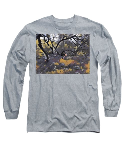 Morning Walk Trees Long Sleeve T-Shirt