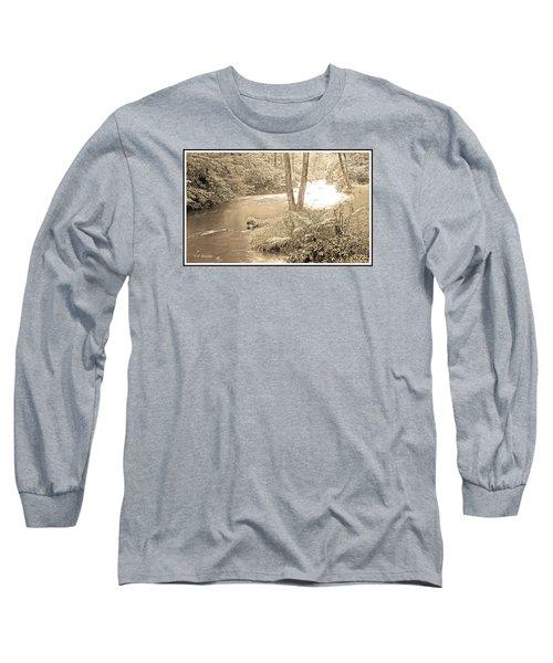 Long Sleeve T-Shirt featuring the photograph Mud Run Pocono Mountain Stream Pennsylvania by A Gurmankin