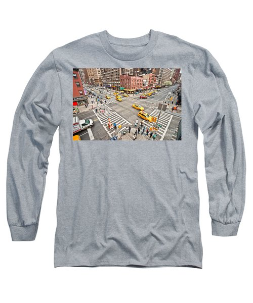 New York City Long Sleeve T-Shirt by Luciano Mortula