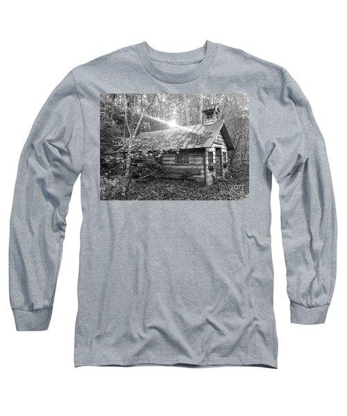 One Room School House Gnawbone Indiana Long Sleeve T-Shirt by Scott D Van Osdol