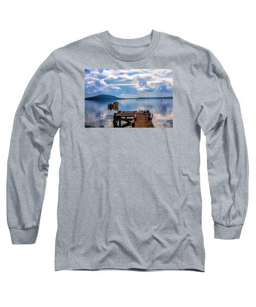 Quiet Lake Long Sleeve T-Shirt by Rick Bragan