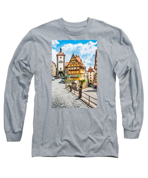 Rothenburg Ob Der Tauber Long Sleeve T-Shirt by JR Photography