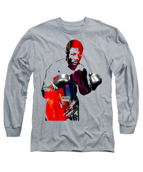 Smokin Joe Frazier Collection Long Sleeve T-Shirt by Marvin Blaine