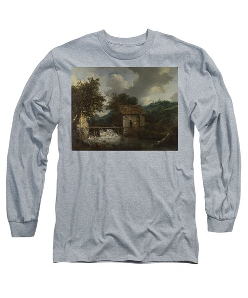 Two Watermills And An Open Sluice At Singraven Long Sleeve T-Shirt