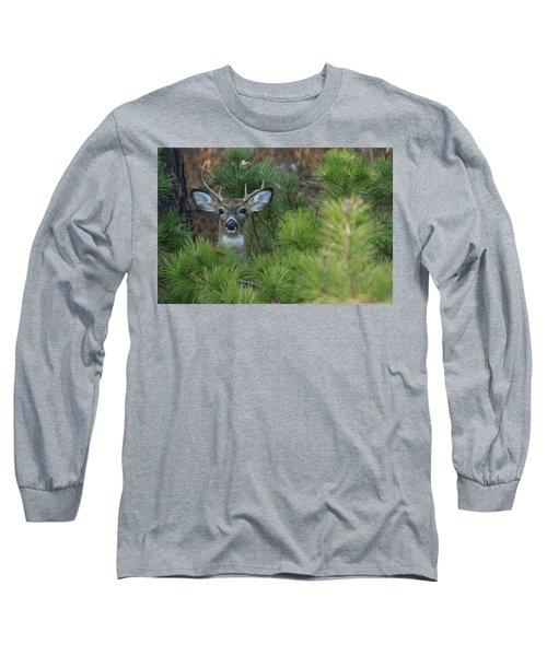White Tailed Deer Calverton New York Long Sleeve T-Shirt