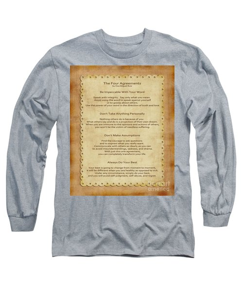41- The Four Agreements Long Sleeve T-Shirt