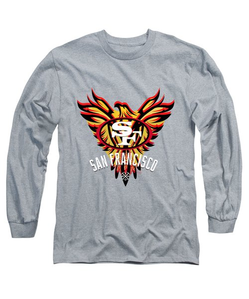 49er Phoenix  Long Sleeve T-Shirt by Douglas Day Jones