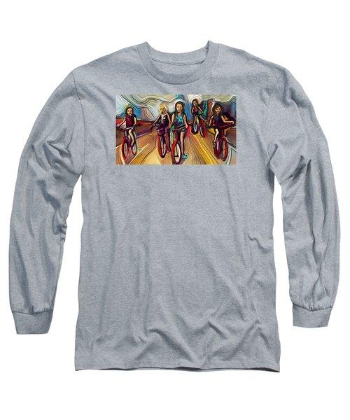5 Bike Girls Long Sleeve T-Shirt