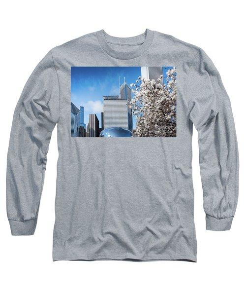 Chicago Bean Millenium Park Long Sleeve T-Shirt