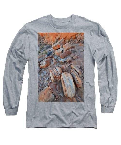 Long Sleeve T-Shirt featuring the photograph Colorful Cove In Valley Of Fire by Ray Mathis