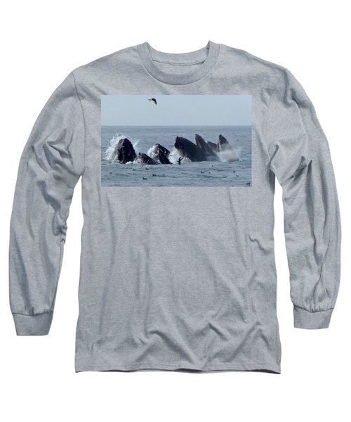 5 Humpbacks Lunge Feeding  Long Sleeve T-Shirt