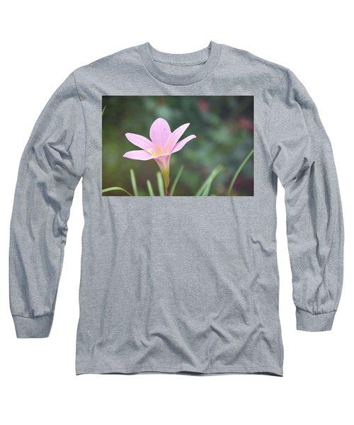 Pink Flower Long Sleeve T-Shirt by Gordana Stanisic