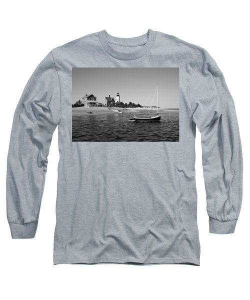 Long Sleeve T-Shirt featuring the photograph Sandy Neck Lighthouse by Charles Harden