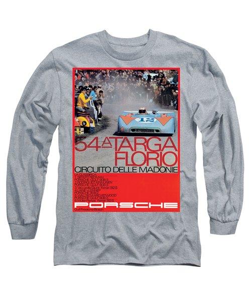 54th Targa Florio Porsche Race Poster Long Sleeve T-Shirt