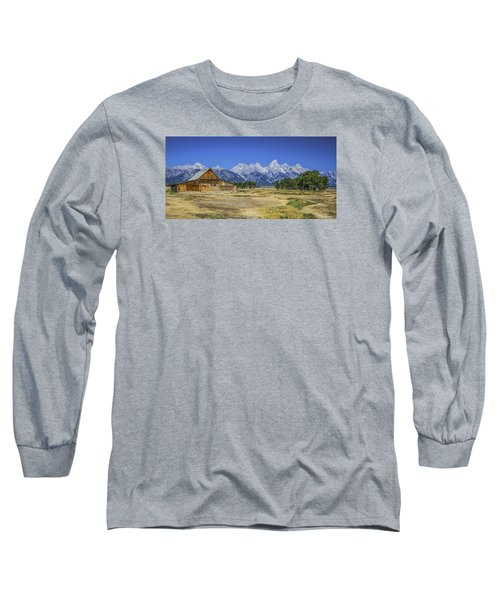 #5730 - Mormon Row, Wyoming Long Sleeve T-Shirt