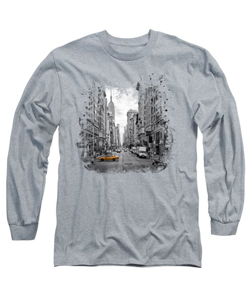 New York City 5th Avenue Long Sleeve T-Shirt by Melanie Viola