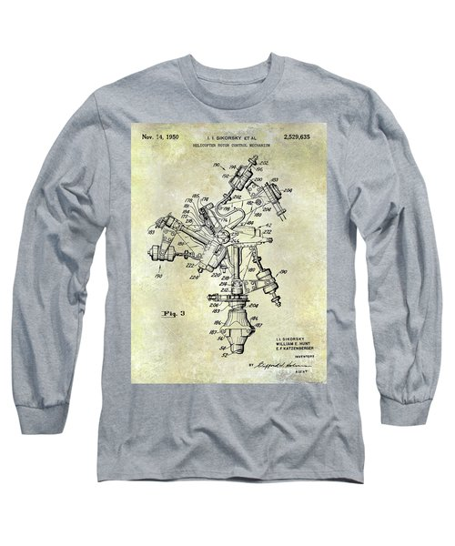 1950 Helicopter Patent Long Sleeve T-Shirt