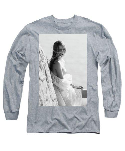 Girl In White Dress Long Sleeve T-Shirt