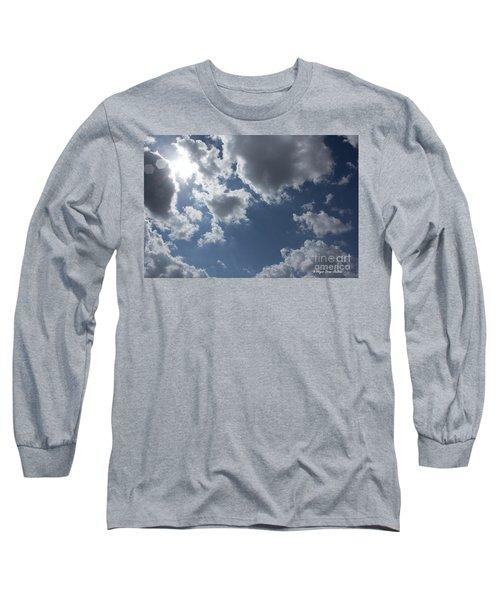 Long Sleeve T-Shirt featuring the photograph 6-gon Boken Sky by Megan Dirsa-DuBois