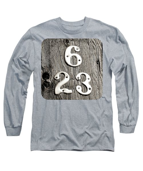 6 Over 23 Long Sleeve T-Shirt by Ethna Gillespie
