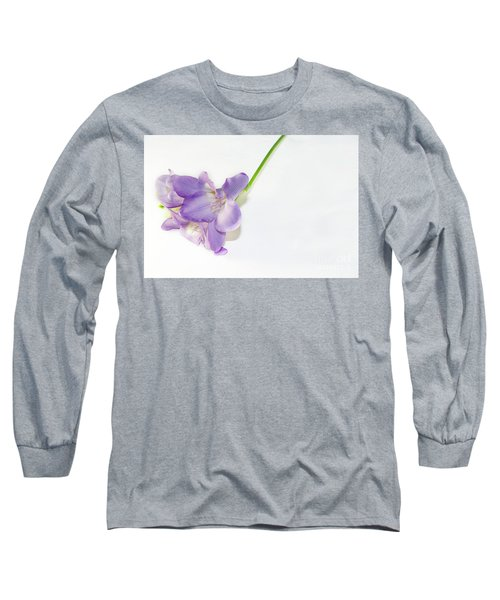 Purple Freesia Long Sleeve T-Shirt by Elvira Ladocki