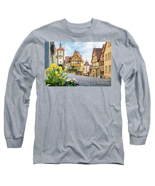 Rothenburg Ob Der Tauber Long Sleeve T-Shirt by JR Photography