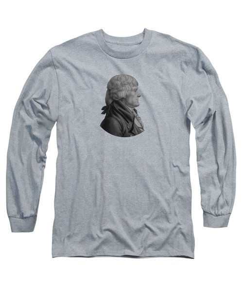 Thomas Jefferson Profile Long Sleeve T-Shirt
