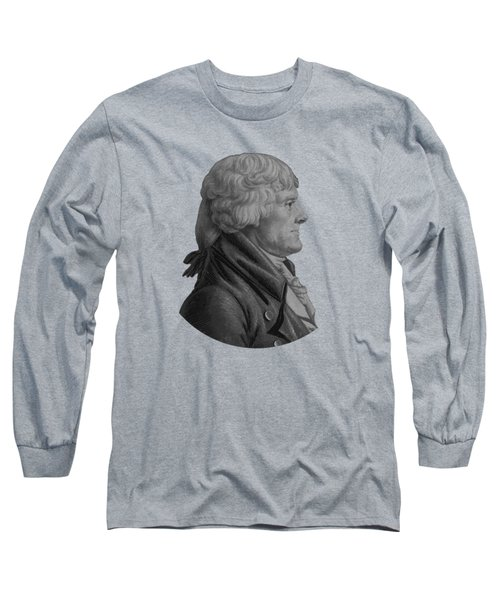 Thomas Jefferson Profile Long Sleeve T-Shirt