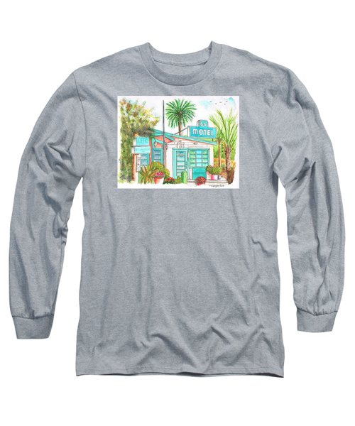 66 Motel In Needles, California Long Sleeve T-Shirt by Carlos G Groppa